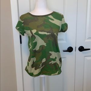 We The Free Free People green camo T-shirt.